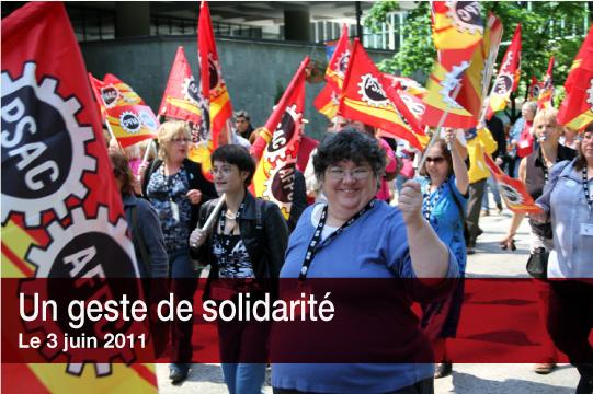 Un geste de solidarité