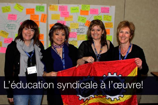 L'éducation syndicale à l'oeuvre